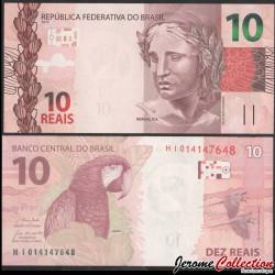 BRESIL - Billet de 10 Reais - Perroquet Ara - 2019 P254e