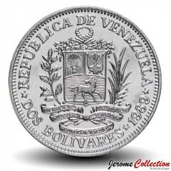 VENEZUELA - PIECE de 2 Bolivars - 1989 Y#43a