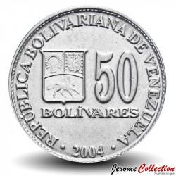 VENEZUELA - PIECE de 50 Bolivars - 2004 Y#82