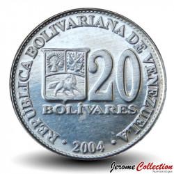 VENEZUELA - PIECE de 20 Bolivars - 2004 Y#81a