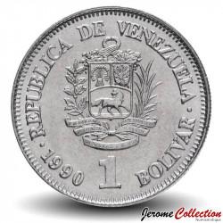 VENEZUELA - PIECE de 1 Bolivar - 1990 Y#52a