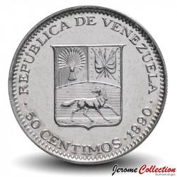 VENEZUELA - PIECE de 50 Centimos - 1990 Y#41a
