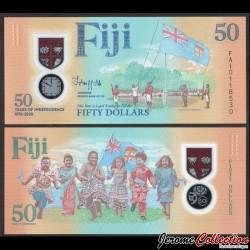 FIDJI - Billet de 50 DOLLARS - 50 ans d'indépendance - Polymer - 2020 P121a