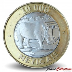 MOZAMBIQUE - PIÈCE de 10000 Meticais - Rhinocéros blanc - 2003 Km#131
