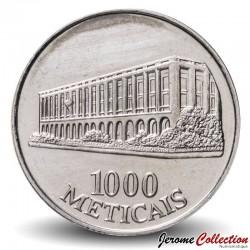 MOZAMBIQUE - PIÈCE de 1000 Meticais - Bâtiment du ministère des Finances - 1994 Km#122