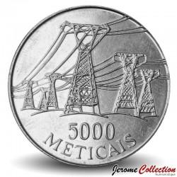 MOZAMBIQUE - PIÈCE de 5000 Meticais - Lignes haute tension - 1998 Km#124