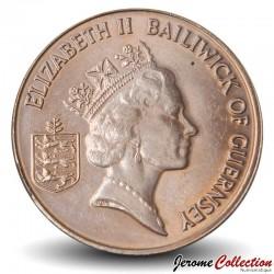 GUERNESEY (île de) - PIECE de 2 Pence - Vache - 1996