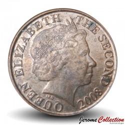 JERSEY - PIECE de 1 Penny- Tour du Hocq - 2008
