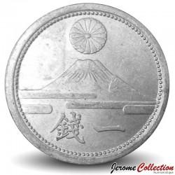 JAPON - PIECE de 1 Sen - Mont Fuji - 1943 Y#59
