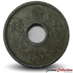 JAPON - PIECE de 10 Sen - Showa - 1944