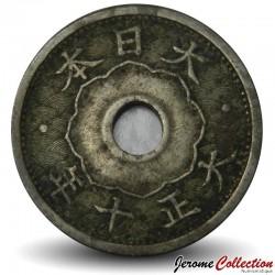 JAPON - PIECE de 10 Sen - Taishō - 1921 Y#44