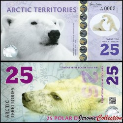 Arctic Territories - Billet de 25 Polar DOLLARS - 2017 0025