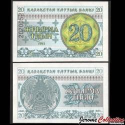 KAZAKHSTAN - Billet de 20 Tiyn - 1993 P5b