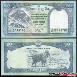NEPAL - Billet de 50 Roupies - Tahr himalayen - 2012 P72a