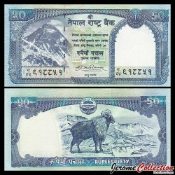NEPAL - Billet de 50 Roupies - Tahr himalayen - 2008 P63a