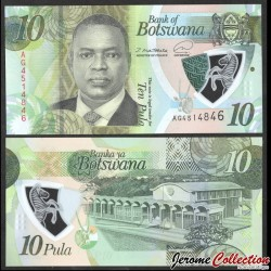 BOTSWANA - Billet de 5 Pula - Président Mokgweetsi Masisi - 2020 P36a