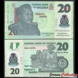 NIGERIA - Billet de 20 Naira - Polymer - 2021 P34q