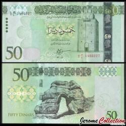 LIBYE - Billet de 50 Dinars - Phare de Bengasi - 2013 P80a
