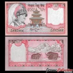 NEPAL - Billet de 5 Roupies - 2 Yachs - 2002 P46a