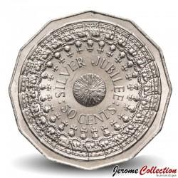 AUSTRALIE - PIECE de 50 Cents - Jubilé d'argent - 1977 Km#70