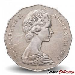 AUSTRALIE - PIECE de 50 Cents - Jubilé d'argent - 1977