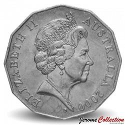 AUSTRALIE - PIECE de 50 Cents - Visite royale - 2000