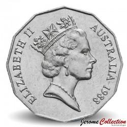 AUSTRALIE - PIECE de 50 Cents - Colonisation de l'Australie - 1988