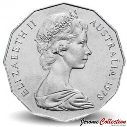 AUSTRALIE - PIECE de 50 Cents - Elizabeth II 2ème effigie - 1978 Km#68