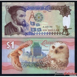 Territoire du Quebec - Billet de 1 DOLLAR - Jacques Cartier - 2016