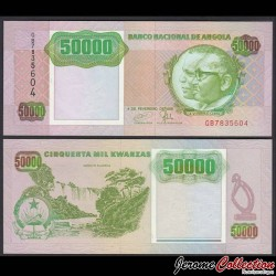 ANGOLA - Billet de 50000 Kwanzas - Cascades de Kalandula - 1991 P132a
