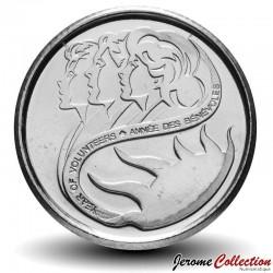 CANADA - PIECE de 10 CENTS - Année des bénévoles - 2001 Km#412