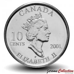 CANADA - PIECE de 10 CENTS - Année des bénévoles - 2001