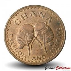 GHANA - PIECE de 1 Pesewa - 1967
