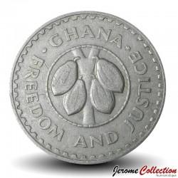 GHANA - PIECE de 20 Pesewas - Cabosses de Cacao - 1967 Km#17