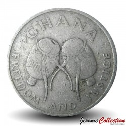 GHANA - PIECE de 50 Pesewas - Tambours - 1991 Km#31