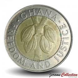 GHANA - PIECE de 100 Cedis - Bimétal - 1997 Km#32