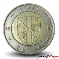 GHANA - PIECE de 100 Cedis - Bimétal - 1997