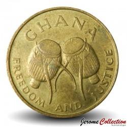 GHANA - PIECE de 5 Cedis - Tambours - 1984