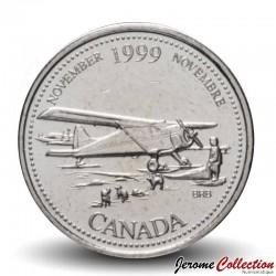 CANADA - PIECE de 25 CENTS - Histoire du Canada - Aout - 1999