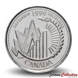CANADA - PIECE de 25 CENTS - Histoire du Canada - Novembre - 1999