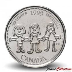 CANADA - PIECE de 25 CENTS - Histoire du Canada - Décembre - 1999