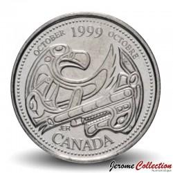 CANADA - PIECE de 25 CENTS - Histoire du Canada - Janvier - 1999