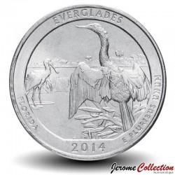 ETATS UNIS / USA - PIECE de 25 Cents - America the Beautiful - Parc national des Everglades - 2014 - D Km#570
