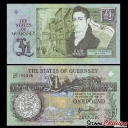 GUERNESEY - Billet de 1 Pound - 200 ans de la 1ère entreprise commerciale de T. de la Rue - 2013