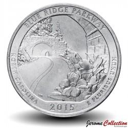 ETATS UNIS / USA - PIECE de 25 Cents - America the Beautiful - Blue Ridge Parkway - Caroline du Nord - 2015 - S Km#599
