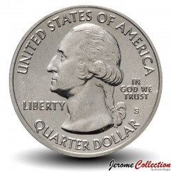 ETATS UNIS / USA - PIECE de 25 Cents - America the Beautiful - Blue Ridge Parkway - Caroline du Nord - 2015 - S