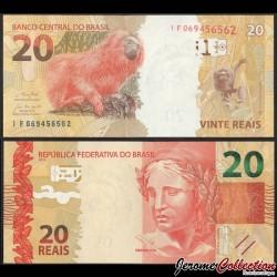 BRESIL - Billet de 20 Reais - Tamarin lion doré - 2019 P255e