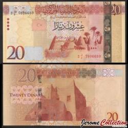 LIBYE - Billet de 20 Dinars - Mosquée à Awjila - 2016 P83a