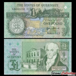 GUERNESEY - Billet de 1 Pound - Daniel de Lisle Brock - 2016