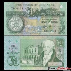 GUERNESEY - Billet de 1 Pound - Daniel de Lisle Brock - 2016 P52d - Série X
